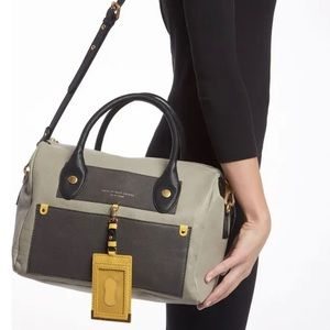 MARC JACOBS Colorblock Pearl Leather Satchel